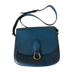 Leather Shoulder Bag LOUIS VUITTON Blue, navy, turquoise