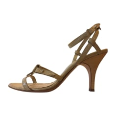 Sandales à talons HUGO BOSS Beige, camel