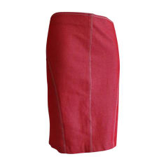 Denim Skirt KENZO Red, burgundy