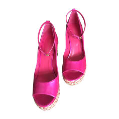 Wedges SERGIO ROSSI Pink, fuchsia, light pink
