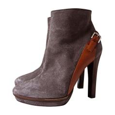 Bottines & low boots à talons RALPH LAUREN Gris, anthracite
