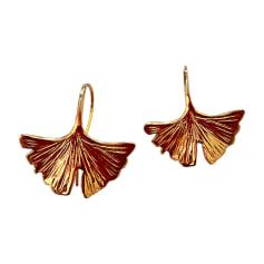 Boucles d'oreille AURELIE BIDERMANN Doré, bronze, cuivre