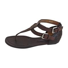 Flat Sandals RALPH LAUREN Brown