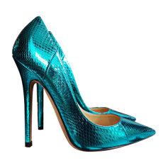 Escarpins JIMMY CHOO Bleu, bleu marine, bleu turquoise