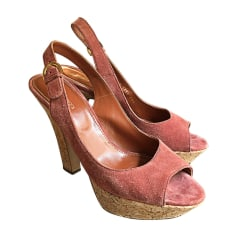 Peep-Toe Pumps SERGIO ROSSI Pink, fuchsia, light pink