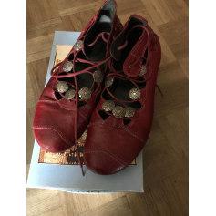 Sandales plates  REGARD Rouge, bordeaux
