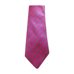 Cravatta HERMÈS Rosa, fucsia, rosa antico