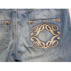 Jeans droit PATRIZIA PEPE Bleu, bleu marine, bleu turquoise