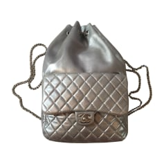 Backpack CHANEL Silver