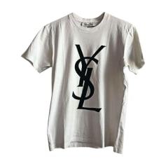 Tee-shirt YVES SAINT LAURENT Blanc, blanc cassé, écru