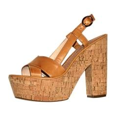 Heeled Sandals DIANE VON FURSTENBERG Brown