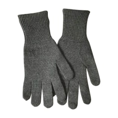 Gloves DIOR HOMME Gray, charcoal