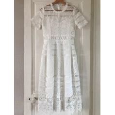 Maxi Dress MAJE White, off-white, ecru