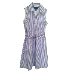 Midi Dress TOMMY HILFIGER Blanc et bleu