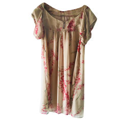 Midi Dress IKKS Beige, camel