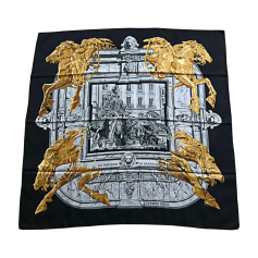 Silk Scarf HERMÈS Carré Black