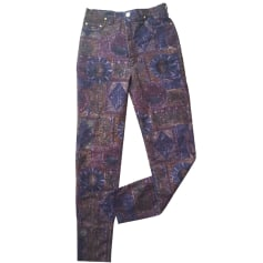 Skinny Pants, Cigarette Pants KRISTINA POPOVITCH Multicolor