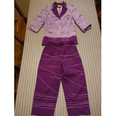 Tailleur pantalon CHRISTINE LAURE Violet, mauve, lavande