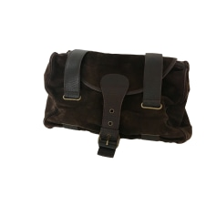 Leather Handbag MAX MARA Brown