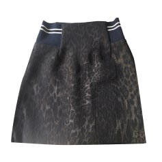 Mini Skirt SANDRO Animal prints