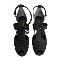 Sandales à talons LOUIS VUITTON Marron