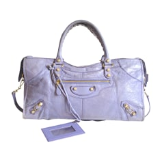 Leather Handbag BALENCIAGA Part Time Purple, mauve, lavender