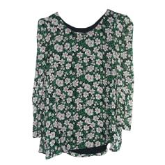 Blusa CLAUDIE PIERLOT imprimé vert rose et blanc