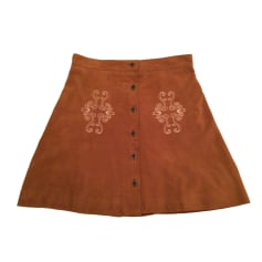 Mini Skirt THE KOOPLES Brown