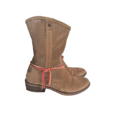 Santiags, bottines, low boots cowboy IKKS Beige, camel