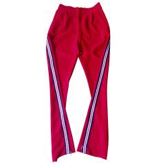 Pantalon droit CLAUDIE PIERLOT Rouge, bordeaux