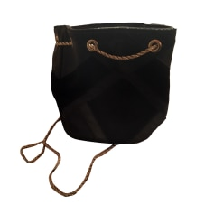 Leather Handbag SÉZANE Black