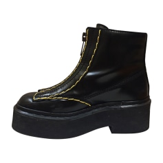Bottines & low boots plates CÉLINE Noir