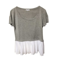 Top, tee-shirt CLAUDIE PIERLOT Gris, anthracite