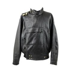 Leather Zipped Jacket MAC DOUGLAS Black
