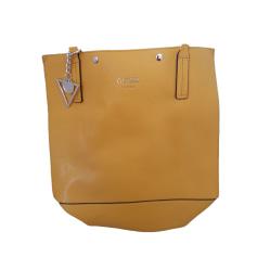 Leather Handbag GUESS Yellow