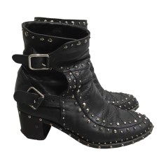 Bottines & low boots motards LAURENCE DACADE Noir