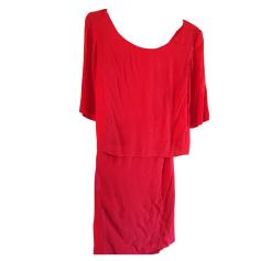 Midi Dress SANDRO Red, burgundy