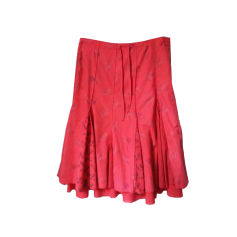 Midi Skirt IKKS Red, burgundy