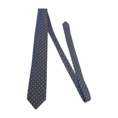 Tie YVES SAINT LAURENT Blue, navy, turquoise