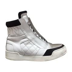 Baskets BALMAIN Blanc, blanc cassé, écru