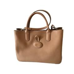 Leather Handbag LONGCHAMP Beige, camel
