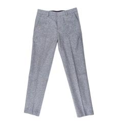 Straight Leg Pants AMI Gray, charcoal