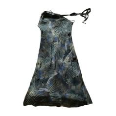 Robe mi-longue FENDI Bleu, bleu marine, bleu turquoise