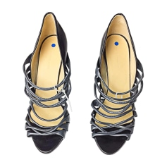 Heeled Sandals BALENCIAGA Gray, charcoal