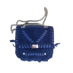 Handtasche Leder CLAUDIE PIERLOT Blau, marineblau, türkisblau