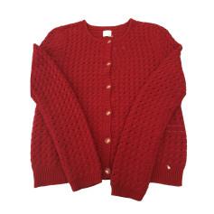 Vest, Cardigan DES PETITS HAUTS Rouge carmin