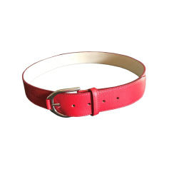 Wide Belt LONGCHAMP Red, burgundy