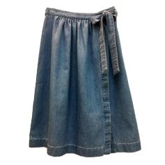 Midi Skirt DES PETITS HAUTS Blue, navy, turquoise