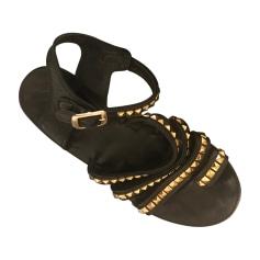 Sandales plates  ANINE BING Noir
