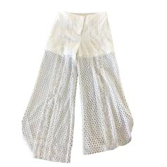 Pantalon évasé BEL AIR Blanc, blanc cassé, écru